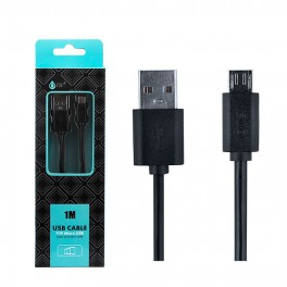 Cable datos One Micro USB 2000M 1m Negro